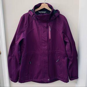 Athleta Purple Parka Jacket
